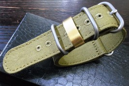 22mm  canvas Nylon strap with Brass ring for Military watch - $9.90