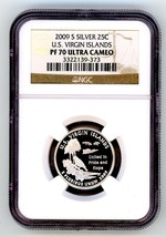 2009-S SILVER US Virgin Islands PF 70 ULTRA CAMEO QUARTER - $28.37