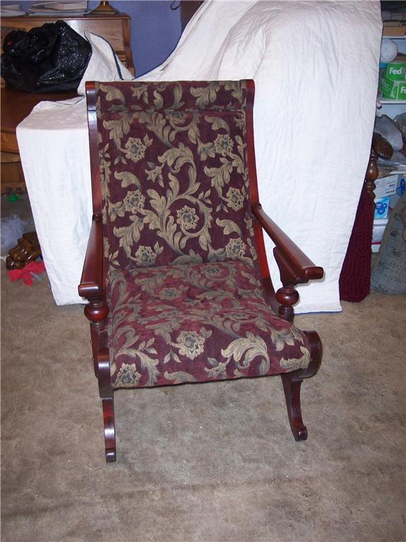 Mahogany Carved Sleepy Hollow Chair/Parlor Chair