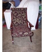 Mahogany Carved Sleepy Hollow Chair/Parlor Chair - $770.05