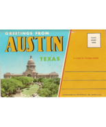 Greetings from Austin Texas Vintage Post Card Folio 1961 - $7.00