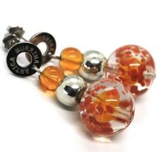 Earrings Antica Murrina Venezia,Hanging,Spheres,Orange Yellow,Murano image 2