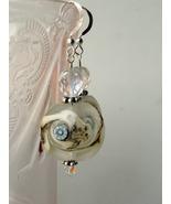 Beach inspired lampwork glass earrings. Hypoallergenic wires - $29.95