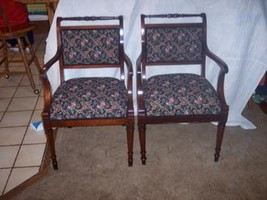 PAIR of Regency Mahogany Armchairs/Parlor Chairs - $579.05