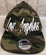 KB Ethos Woodland Camouflage SnapBack Hat With Raised Silver Colored Los... - $14.96