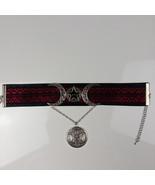 Black & Red Triple Moon Goddess Laced Choker - $28.00