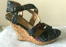 MADDEN GIRL High CORK Heel WEDGE Women Platform Shoe Sandal SIZE 6 M USA - $21.29
