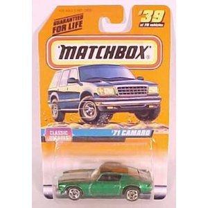 Matchbox 1998-39/75 Series 5 Classic Decades GREEN '71 Camar