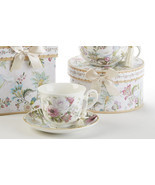 Delton Products Pale Rose 3.6 inches Porcelain Cup/Saucer in Gift Box, 8... - €16,85 EUR