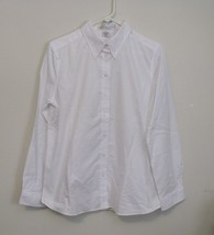Womens I L Migliore NWT White Long Sleeve Blouse Size Medium - $14.95