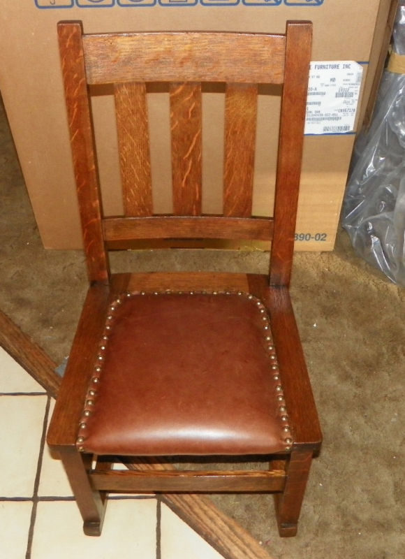 Primary image for Quartersawn Oak Mission Leather Rocker/Rocking Chair