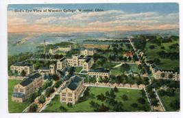 Birds Eye View Wooster College Wooster Ohio 1910c postcard - $6.44