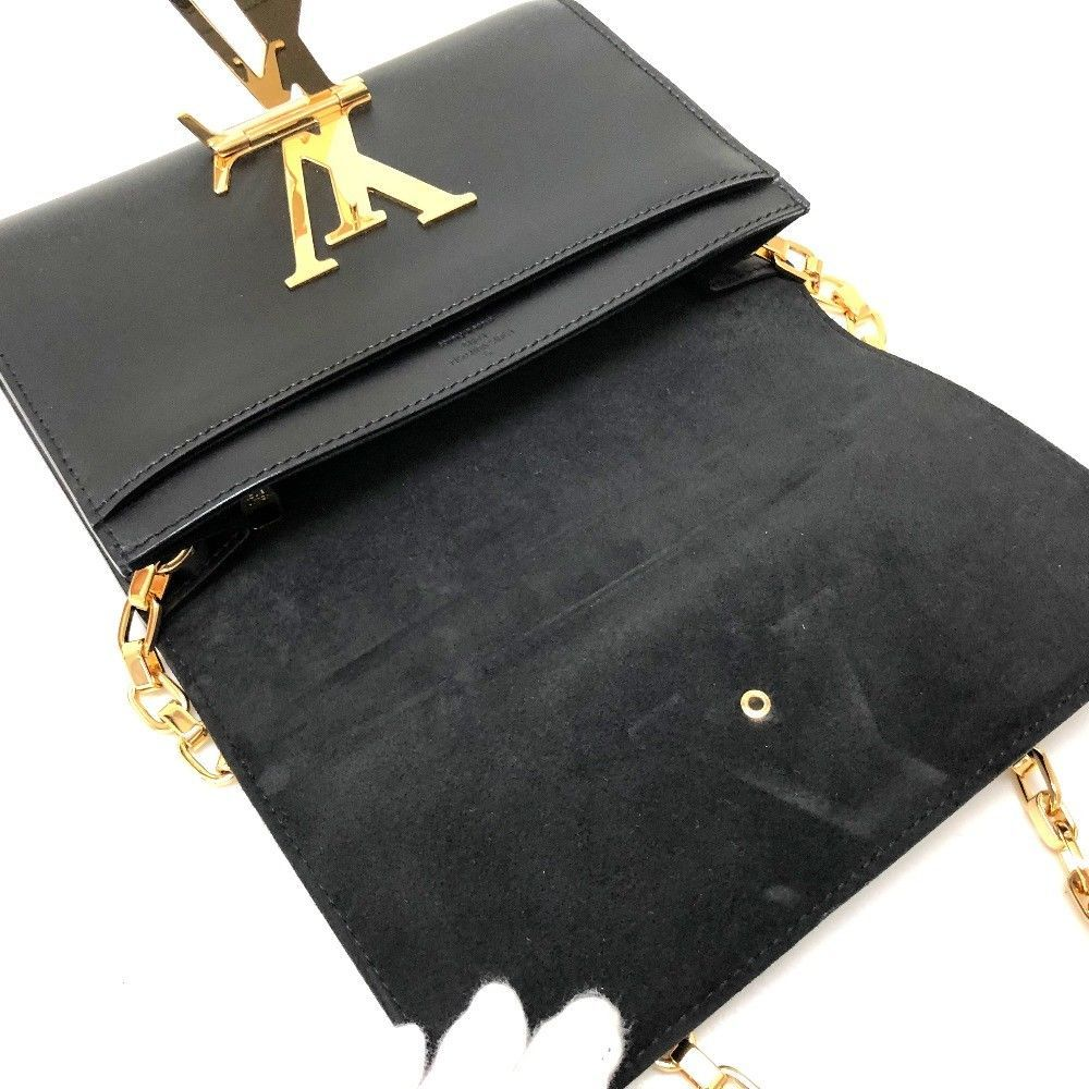 AUTHENTIC LOUIS VUITTON Chain Wallet Louise MM Shoulder Bag WOC M94335