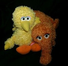 FISHER PRICE 2008 MUSICAL BIG BIRD & SNUFFLEUPAUGUS STUFFED ANIMAL PLUSH... - $23.38