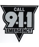 """EMERGENCY - CALL 911 Highly Reflective Vinyl DECAL  14""""  -   BLACK AND S... - $37.57"""