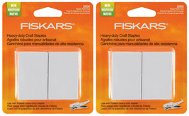 Lot of 2x Fiskars Heavy Duty Craft Staples Refill Replacement Pack 2000/Pkg NEW image 1
