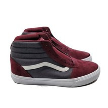 VANS Men Ward HI Herringbone Burgundy Gray Suede True White Skate Shoes ... - $69.95