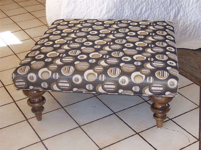 Primary image for Retro Print Ottoman Coffee Table Stool