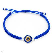 Bracelet With Genuine Crystals Designed in Metallic Base metal and Blue ... - $19.99