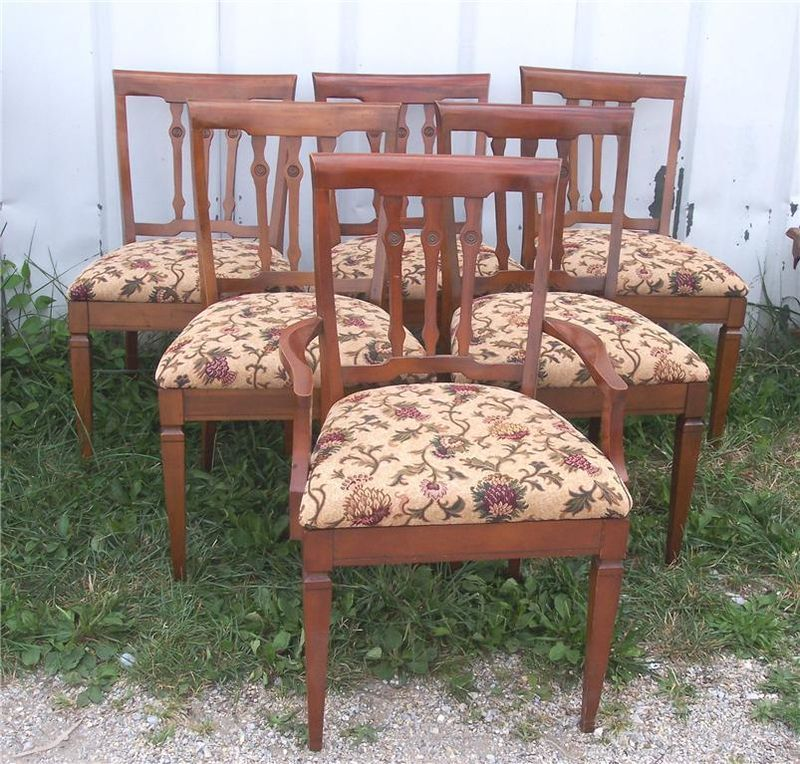 Primary image for Set of 6 Cherry Dinette Chairs
