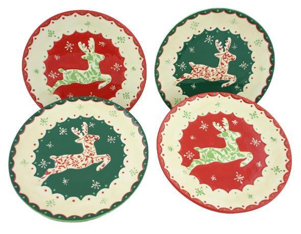 Reindeer Plate Set of 4