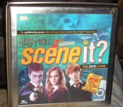Harry Potter 2 Nd Edition Scene It Dvd Board Game In Tin Container  Complete - $25.00