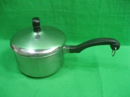 Vintage Farberware Aluminum Clad Stainless Steel Sauce Pan with Lid One ... - $13.06