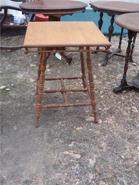Primary image for Stick and Ball Oak Parlor Table/Center Table