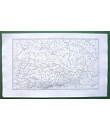1859 ANTIQUE MAP - Southern Germany Valley of Danube River Czech Republic - $16.20