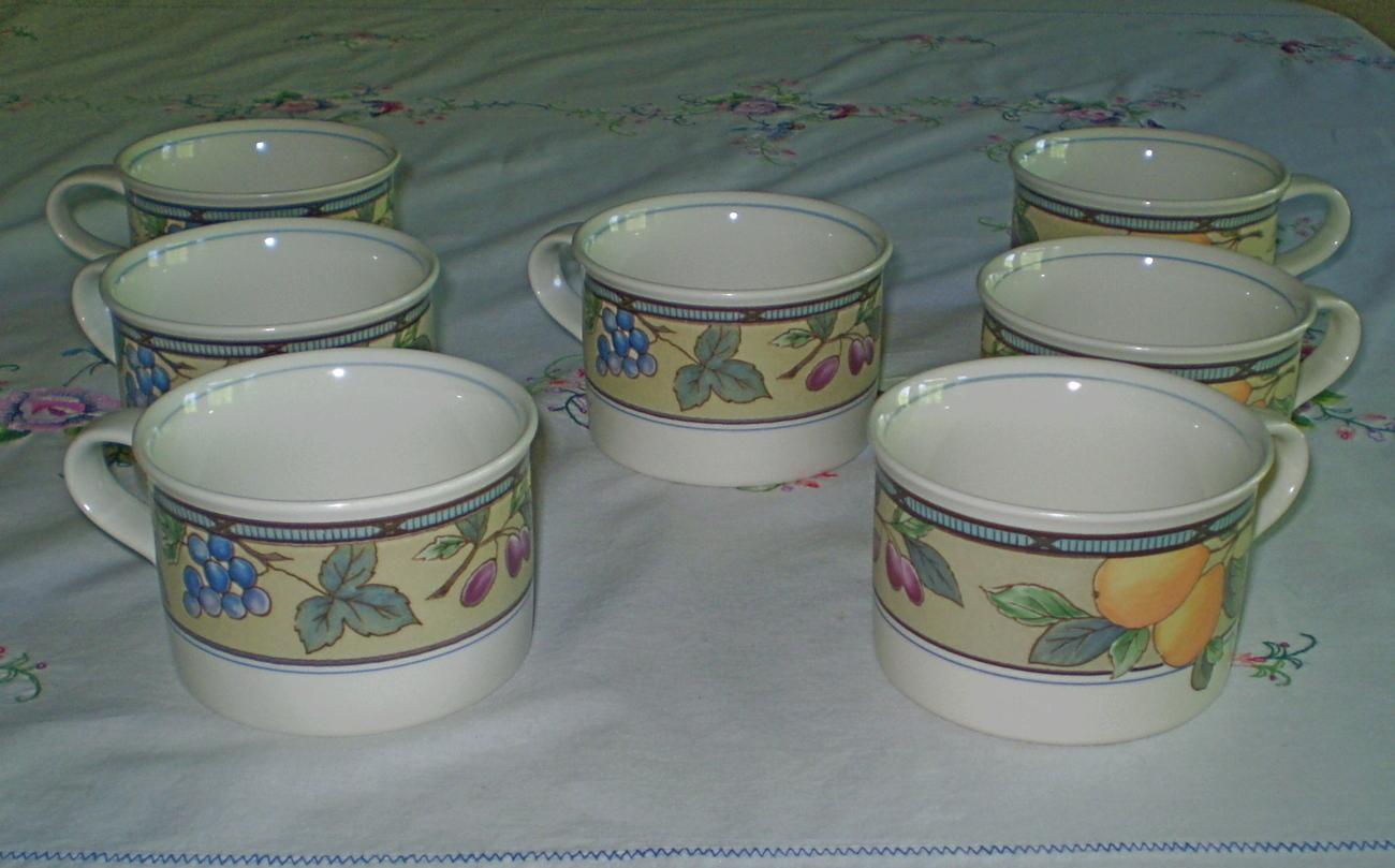 Mikasa Intaglio Garden Harvest Coffee Cups 7 Mikasa