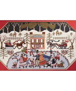 Victorian Winter Ice Skaters Cross Stitch PATTERN ONLY Nostalgic Family ... - $3.99