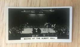 1932 W.D.& H.O. WILLS Homeland Events #8  Boxing at the ALBERT HALL Card - $7.87