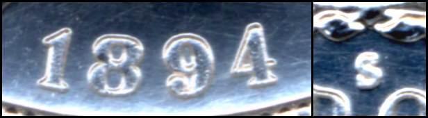 1894-S  MORGAN  Silver  BU exact Replica  1REFCO