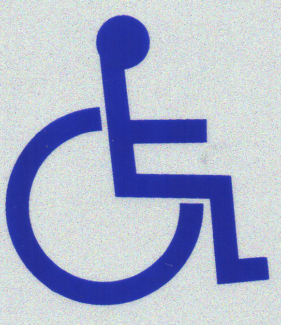 """HANDICAPPED ACCESSIBLE - ADA DISABLED SYMBOL Highly Reflective Decal - 2"""" x 2"""""""
