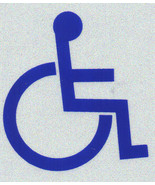 "HANDICAPPED - DISABLED SYMBOL Highly Reflective Decal - 2"" x 2"" - $3.95"