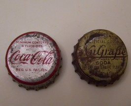 Vintage Coca Cola and NuGrape Soda Cap Screw off Top Caps - $4.50