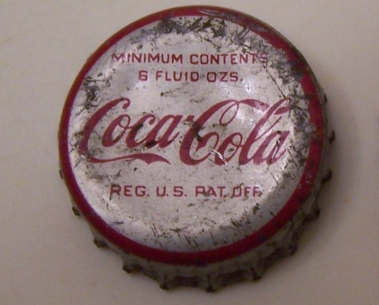 Vintage Coca Cola and NuGrape Soda Cap Screw off Top Caps