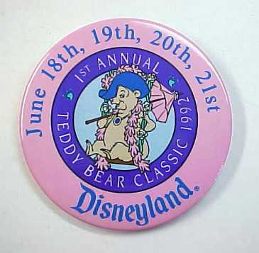 Primary image for 1992 Disney Disneyland Teddy Bear Classic Pin Back Pinback Button