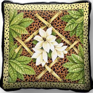 Bamboo animal skin pillow 17 inch
