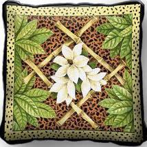 "17"" Jungle BAMBOO Leopard Skin Print Pillow Cushion - $32.50"