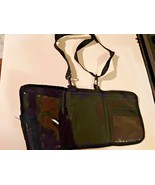 AARP Black Travel Organizer Tri-Fold Shoulder Fanny Belt Loop Bag Wallet... - $13.85
