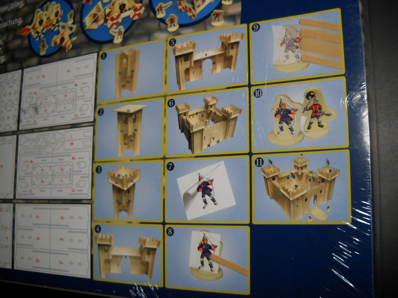 Build Your Own Castle Netherlands Construction Kit Pop Out Panels Decals Sealed