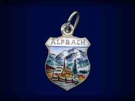 Vintage travel shield charm, Alpbach, Tirol, Austria - $39.95