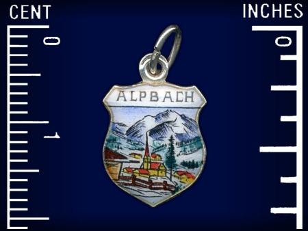 Vintage travel shield charm, Alpbach, Tirol, Austria