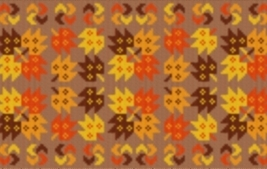 Latch Hook Rug Pattern Chart: Maple Patchwork - EMAIL2u - $5.75