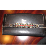 Gucci Black Leather Checkbbok Wallet  w Chain $... - $262.90