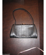 Bruno Magli Black Leather Clutch Handbag Purse - $98.00