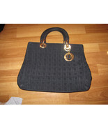 CHRISTIAN DIOR Black Lady Cannage Handbag Purse... - $389.00