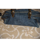 Miu Miu By Prada Denim Handbag Purse Bag W Leat... - $72.75