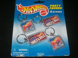 HOT WHEELS PARTY FAVORS 4 KEYRINGS - $2.50